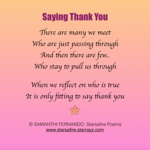 Saying Thank You