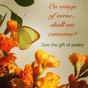 on wings of verse
